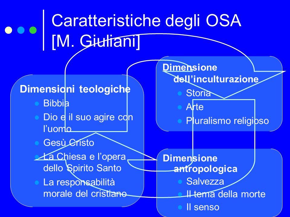 Caratteristiche degli OSA [M. Giuliani]